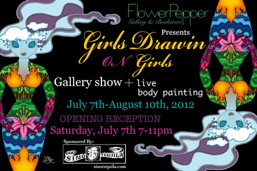 Girls Drawin On Girls @ Flower Pepper Gallery