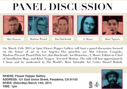 Panel Discussion 2014 March @ Flower Pepper Gallery