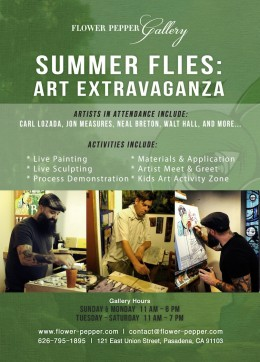 Summer Flies Art Extravaganza @ Flower Pepper Gallery