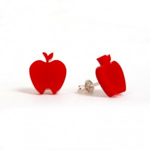 Apple Earrings Red by Made by White