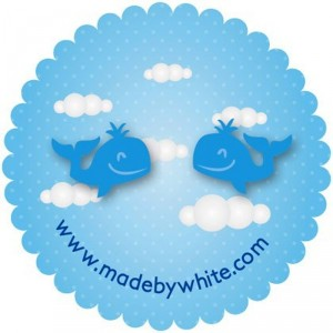 Blue Whale Studs by Made by White