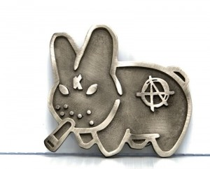 Labbit Belt Buckle by Frank Kozik
