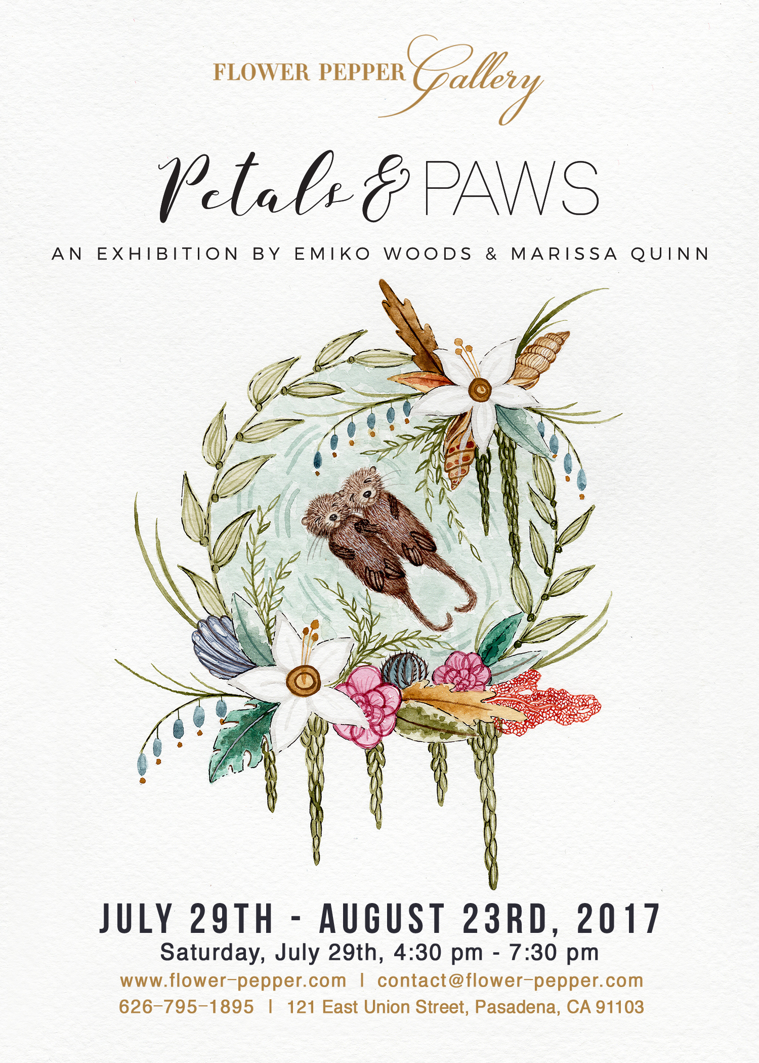 Petals & Paws: An Exhibition by Emiko Woods & Marissa Quinn