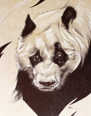 Panda with Attitude by Raymond Sanchez