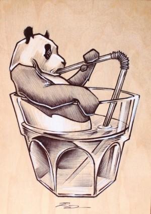 Thirsty Panda by Raymond Sanchez