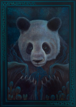 Panda Dreams by David Natale with Frame