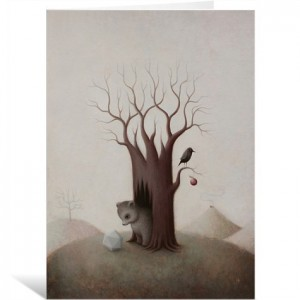 Bewildered Bear by Paul Barnes Greeting Card