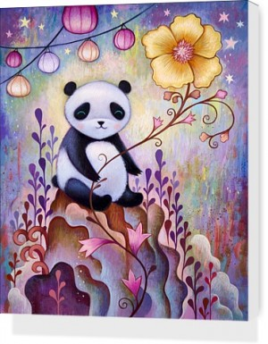 Panda Naps by Jeremiah Ketner Stretched Canvas