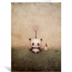 Rise Of The Giant Panda by Paul Barnes Greeting Card