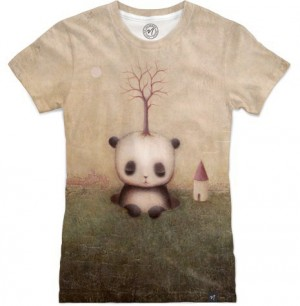 Rise Of The Giant Panda by Paul Barnes Women's T-Shirt Front