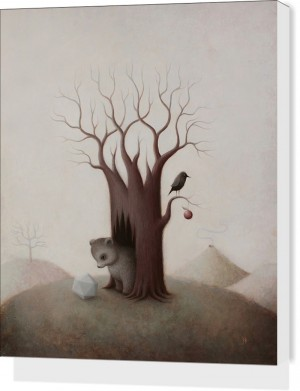 Bewildered Bear by Paul Barnes Stretched Canvas Print