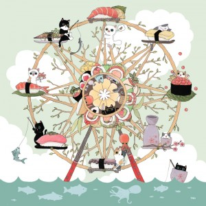 The Sushi Wheel by Shanghee Shin
