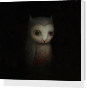 Night Owl by Paul Barnes Stretched Canvas Print