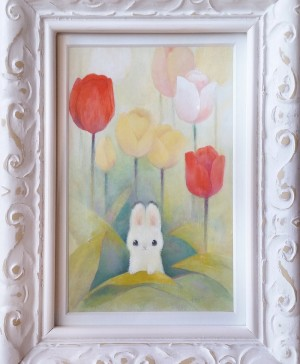 Tiny Tulips by Heather Gross with Frame