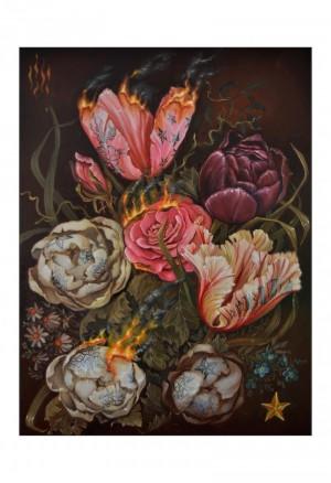 Fleur de feu Archival Print by Susanne Apgar