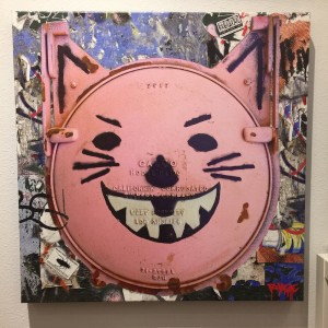 LA River Cat (Pink) Canvas Print by Randy Hage