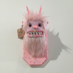 Doughnut Yeti (Small) Pink 3 by Yetis & Friends