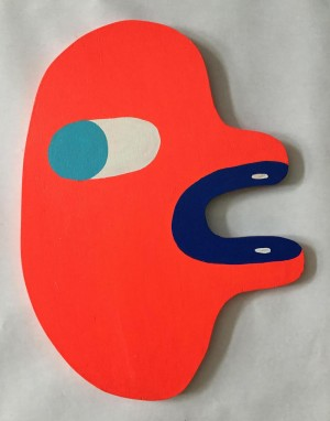 Head (Neon Orange/Navy/It Bl) by Martha Rich