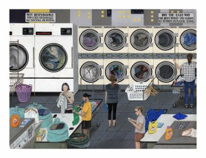 Laundromat Archival Print by Paige Jiyoung Moon