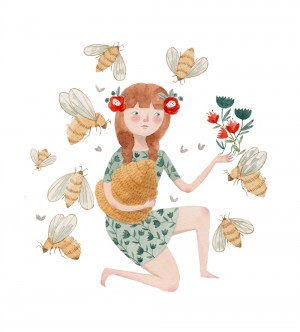 Wild Bee Girl by Julianna Swaney