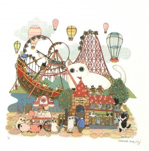 Day of Roller Coaster by Shanghee Shin Print