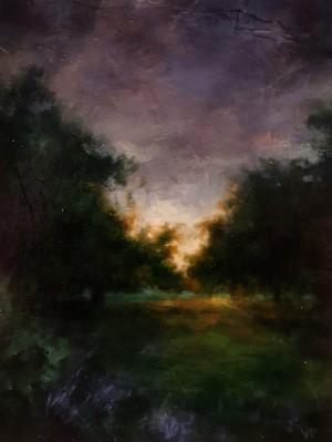 Kensington Gardens, Dusk by Valerie Pobjoy