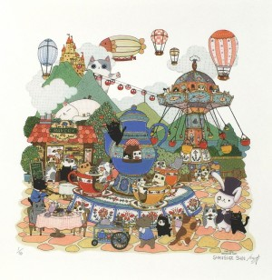 Teacup Ride by Shanghee Shin Print