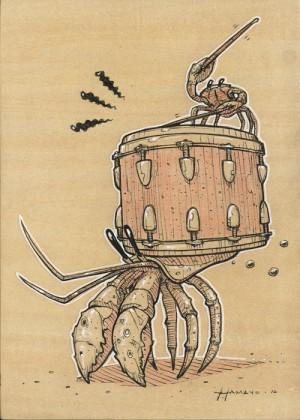 Crabby Study by Roland Tamayo