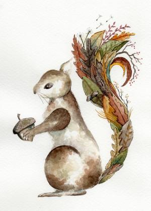 Bushy-Tailed by Emiko Woods