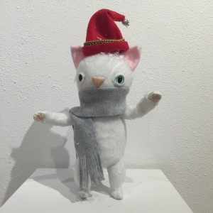 Christmas Cat White by Yetis & Friends