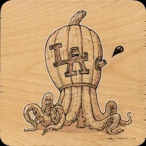 LA Pumpkin Study by Roland Tamayo