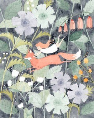 Little Run Away Fox by Julianna Swaney