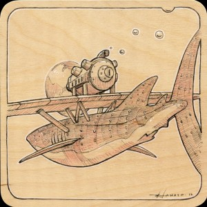 Porco Rosso Whaleshark Study by Roland Tamayo