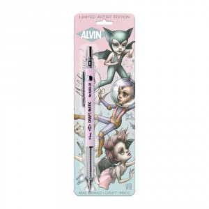Alvin® Draft-Matic Mab Graves Edition Mechanical Pencil .3mm Pink