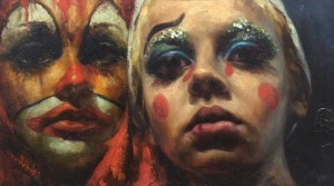 Clowns by Valerie Pobjoy
