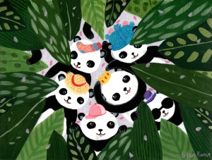 Panda's Hat Party by Liten Kanin