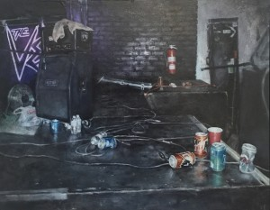 Empty Stage by Valerie Pobjoy