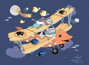 Flying Night by Shanghee Shin