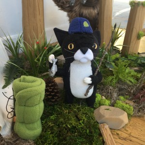 Summer Cat with Blue Hat by Yetis & Friends