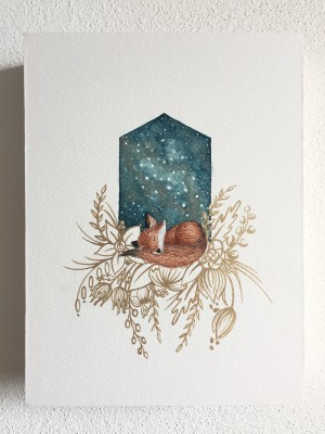 Asleep with the Stars - Fox by Emiko Woods