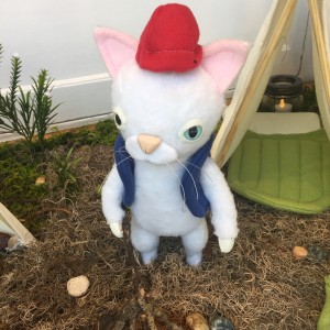 Summer Cat with Red Hat by Yetis & Friends