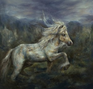 White Stallion by Valerie Pobjoy