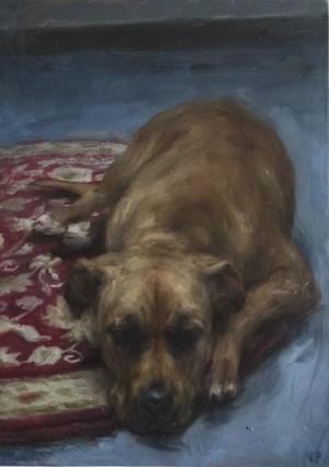 Holly in Studio by Valerie Pobjoy