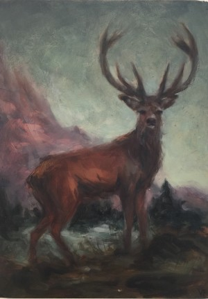 Red Stag by Valerie Pobjoy