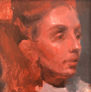 Mather (Red and Black Study) by Valerie Pobjoy