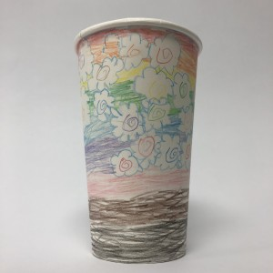 Paper Cup Art by Lillian Fischbeck 1