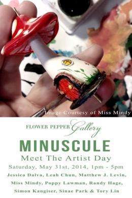 Minuscule Meet The Artist Day @ Flower Pepper Gallery