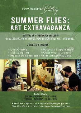 Summer Flies Art Extravaganza @ Flower Pepper Gallery