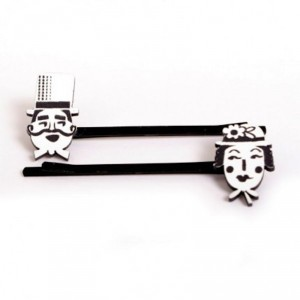 Couple Bobby Pins by Made by White