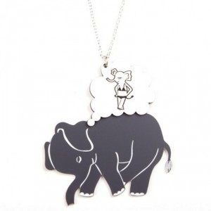 Elephant Daydream Necklace by Made by White